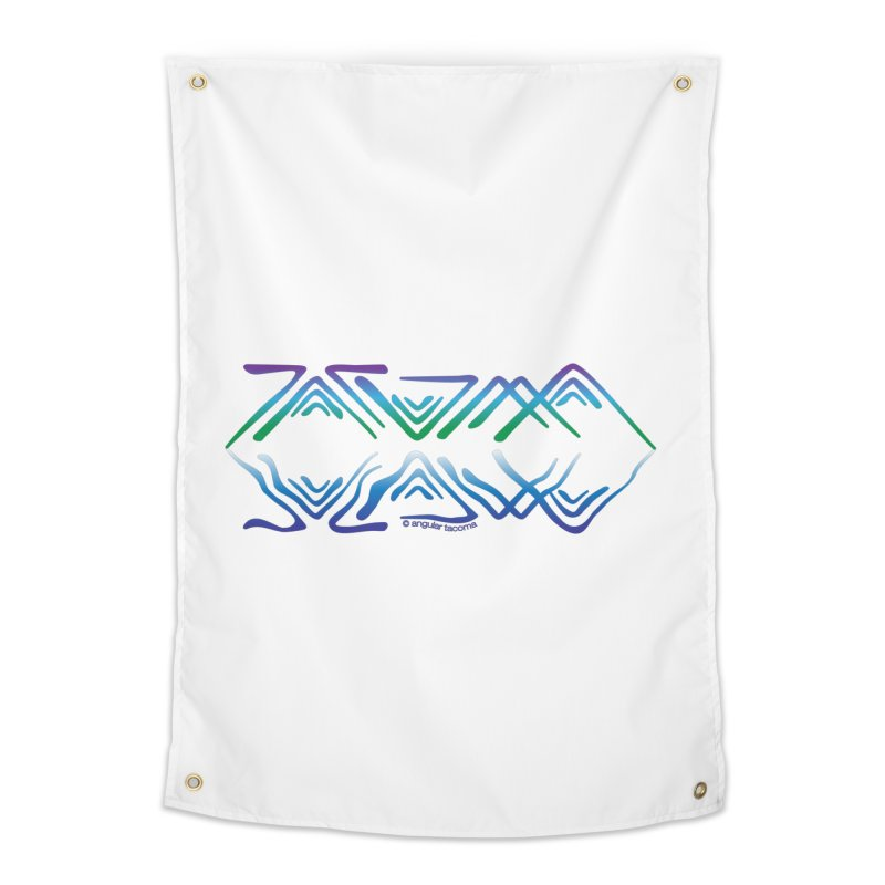 Angular Tacoma - Salish reflections Home Tapestry by SymerSpace Art Shop