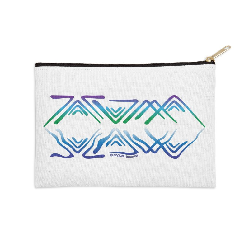 Angular Tacoma - Salish reflections Accessories Zip Pouch by SymerSpace Art Shop