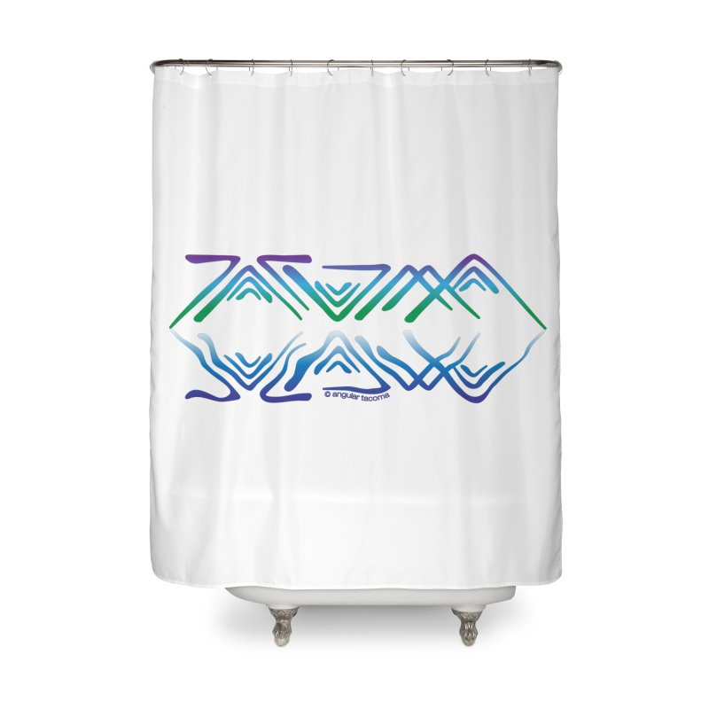 Angular Tacoma - Salish reflections Home Shower Curtain by SymerSpace Art Shop