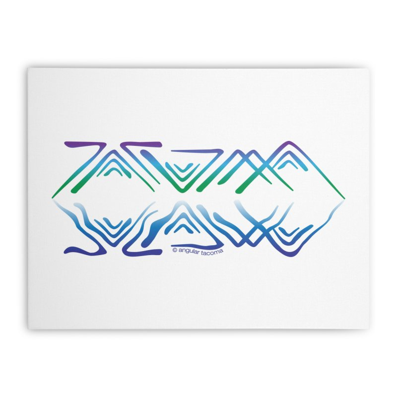 Angular Tacoma - Salish reflections Home Stretched Canvas by SymerSpace Art Shop
