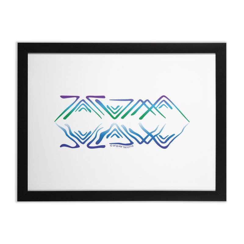 Angular Tacoma - Salish reflections Home Framed Fine Art Print by SymerSpace Art Shop