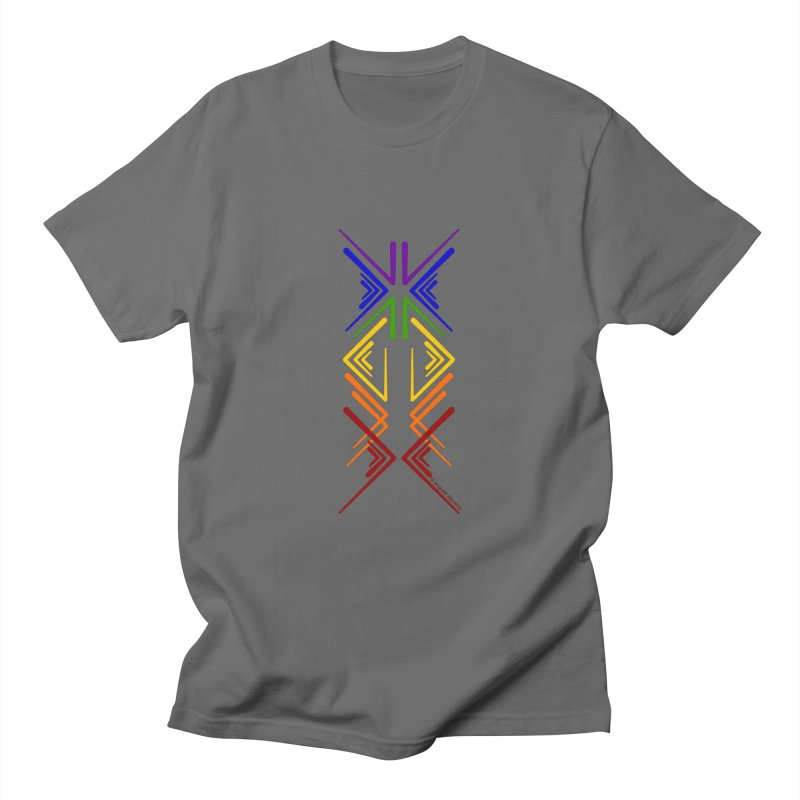 Angular Tacoma - Rainbow Pride Inkblot Men's T-Shirt by SymerSpace Art Shop