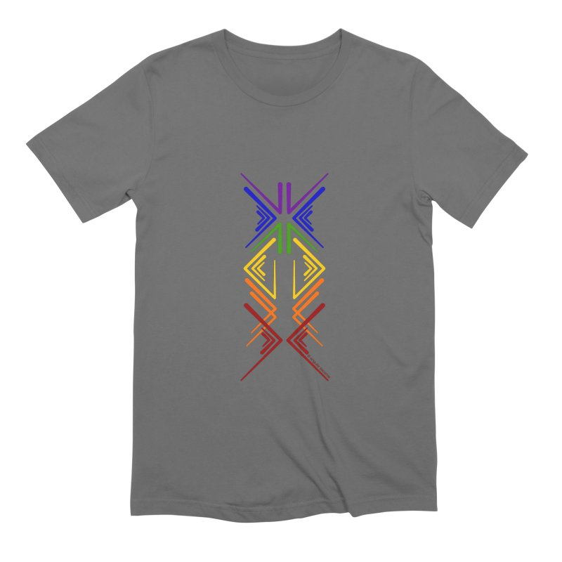 Angular Tacoma - Rainbow Pride Inkblot Men's T-Shirt by SymerSpace Art Shop