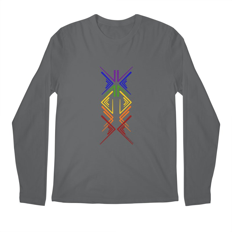 Angular Tacoma - Rainbow Pride Inkblot Men's Longsleeve T-Shirt by SymerSpace Art Shop
