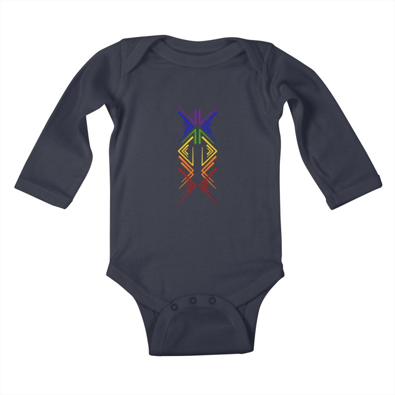 Angular Tacoma - Rainbow Pride Inkblot Kids Baby Longsleeve Bodysuit by SymerSpace Art Shop