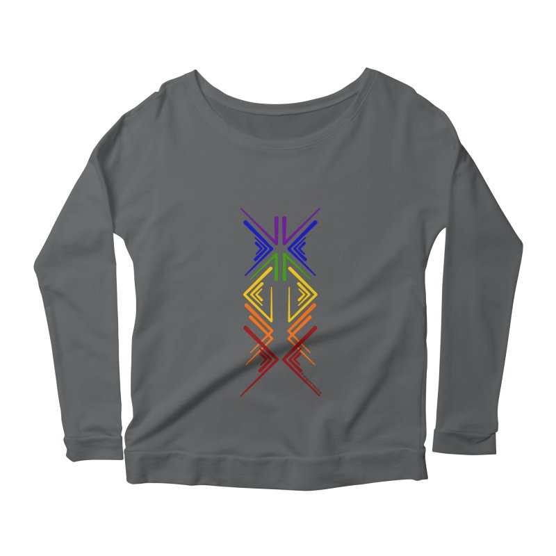 Angular Tacoma - Rainbow Pride Inkblot Women's Longsleeve T-Shirt by SymerSpace Art Shop