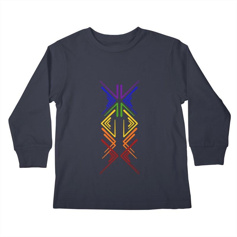 Angular Tacoma - Rainbow Pride Inkblot Kids Longsleeve T-Shirt by SymerSpace Art Shop
