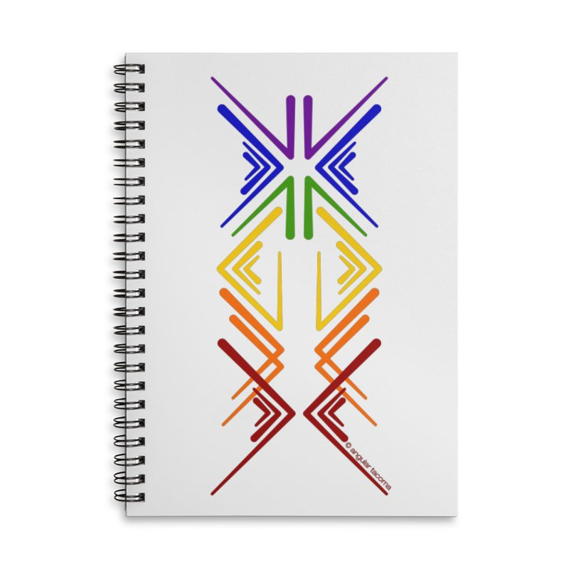 Angular Tacoma - Rainbow Pride Inkblot Accessories Notebook by SymerSpace Art Shop