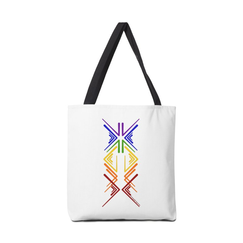 Angular Tacoma - Rainbow Pride Inkblot Accessories Bag by SymerSpace Art Shop
