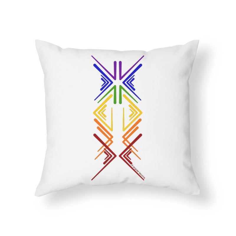 Angular Tacoma - Rainbow Pride Inkblot Home Throw Pillow by SymerSpace Art Shop