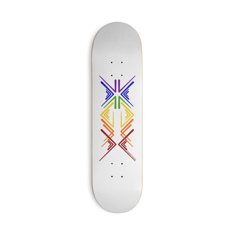 Angular Tacoma - Rainbow Pride Inkblot Accessories Skateboard by SymerSpace Art Shop