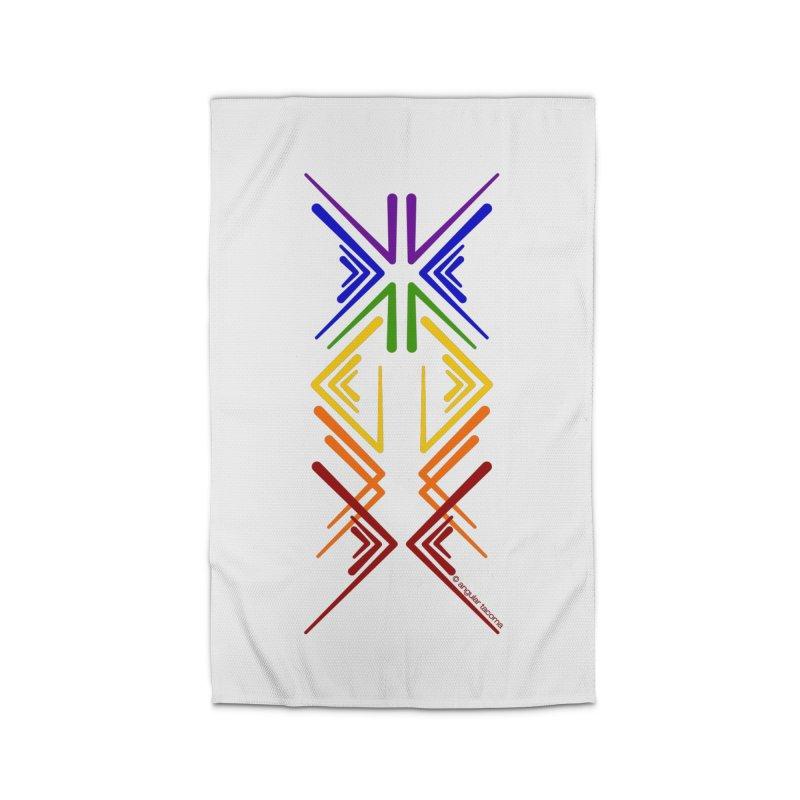 Angular Tacoma - Rainbow Pride Inkblot Home Rug by SymerSpace Art Shop