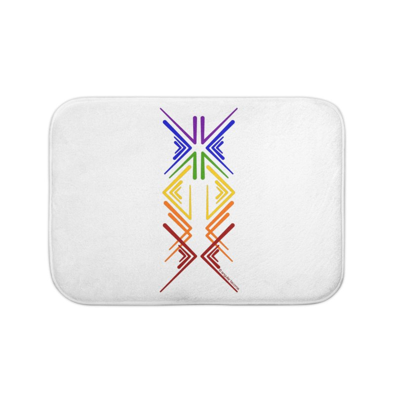 Angular Tacoma - Rainbow Pride Inkblot Home Bath Mat by SymerSpace Art Shop