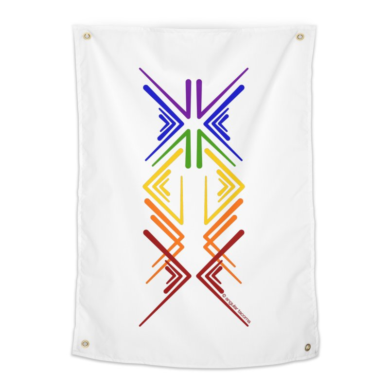 Angular Tacoma - Rainbow Pride Inkblot Home Tapestry by SymerSpace Art Shop