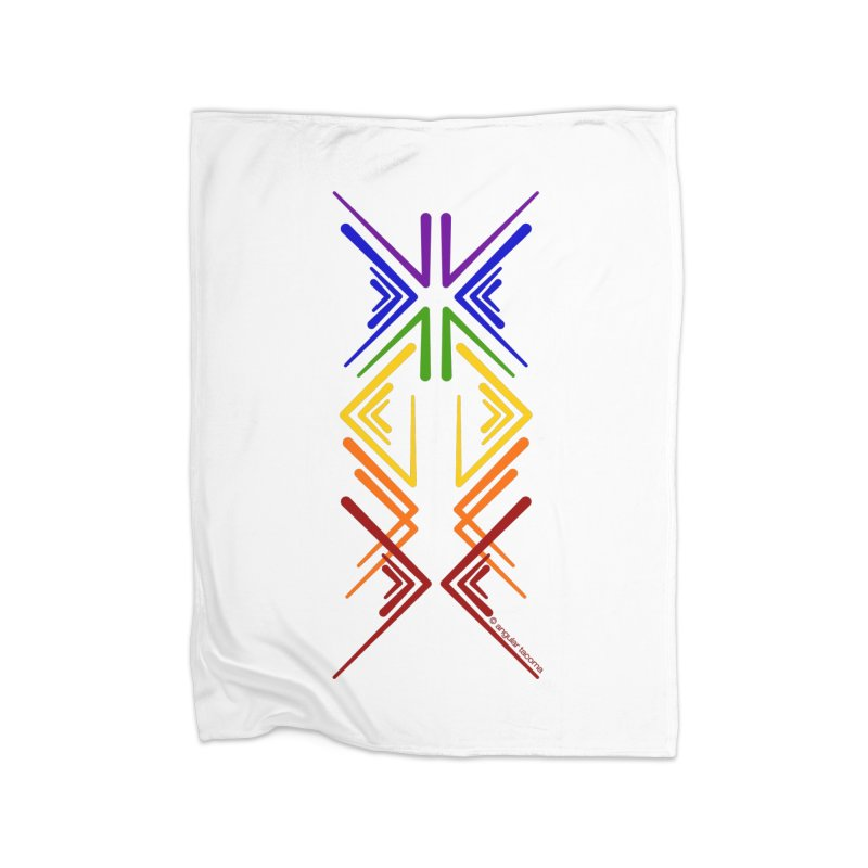 Angular Tacoma - Rainbow Pride Inkblot Home Blanket by SymerSpace Art Shop