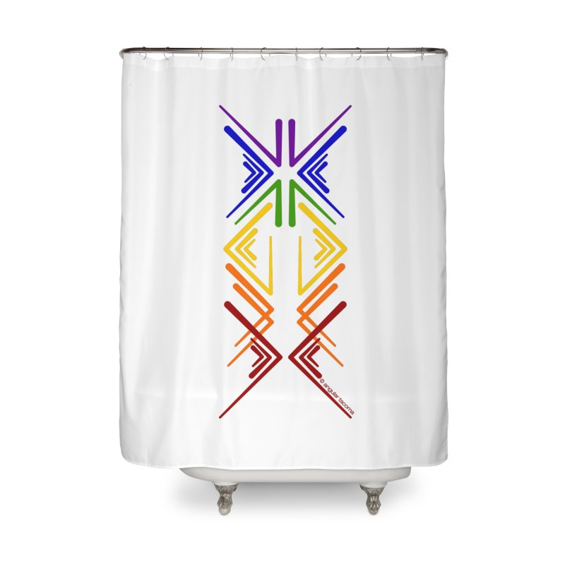 Angular Tacoma - Rainbow Pride Inkblot Home Shower Curtain by SymerSpace Art Shop