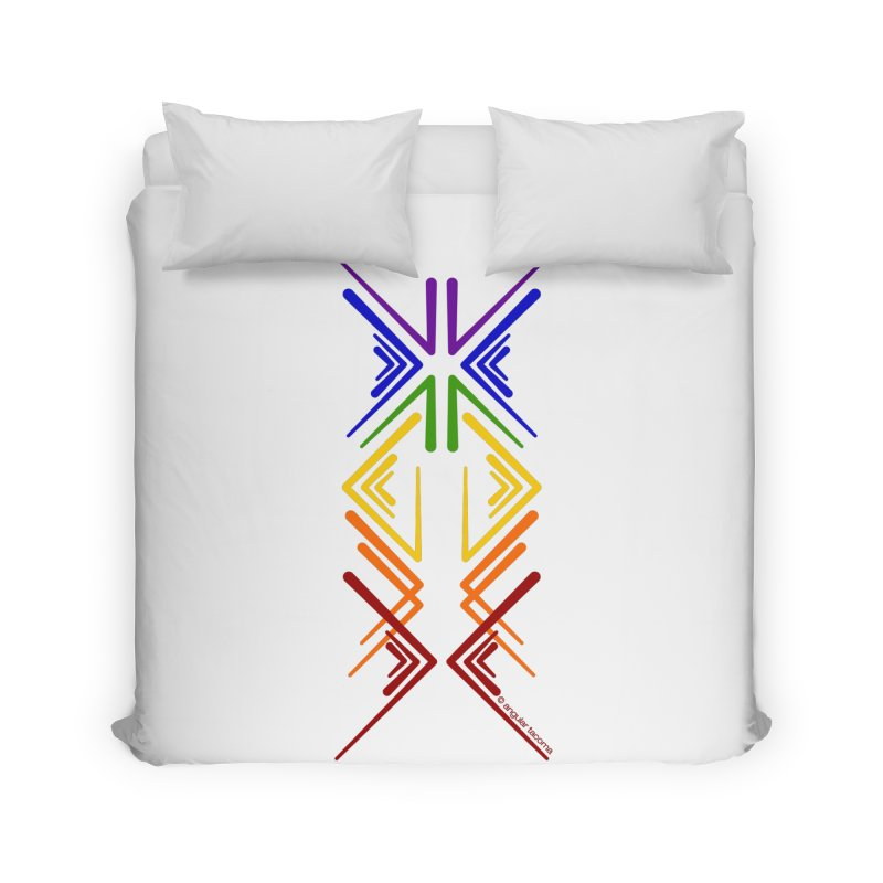 Angular Tacoma - Rainbow Pride Inkblot Home Duvet by SymerSpace Art Shop