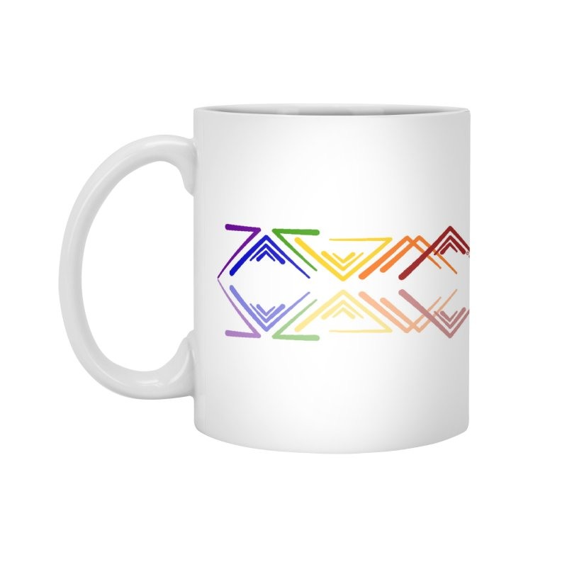 Angular Tacoma - Rainbow Pride Reflection Accessories Mug by SymerSpace Art Shop