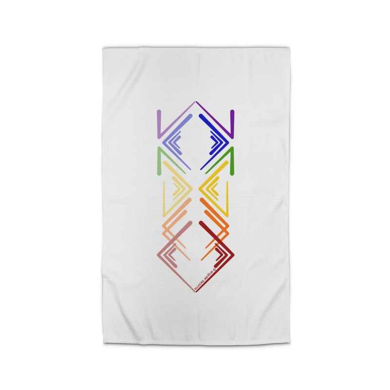 Angular Tacoma - Rainbow Pride Reflection Home Rug by SymerSpace Art Shop