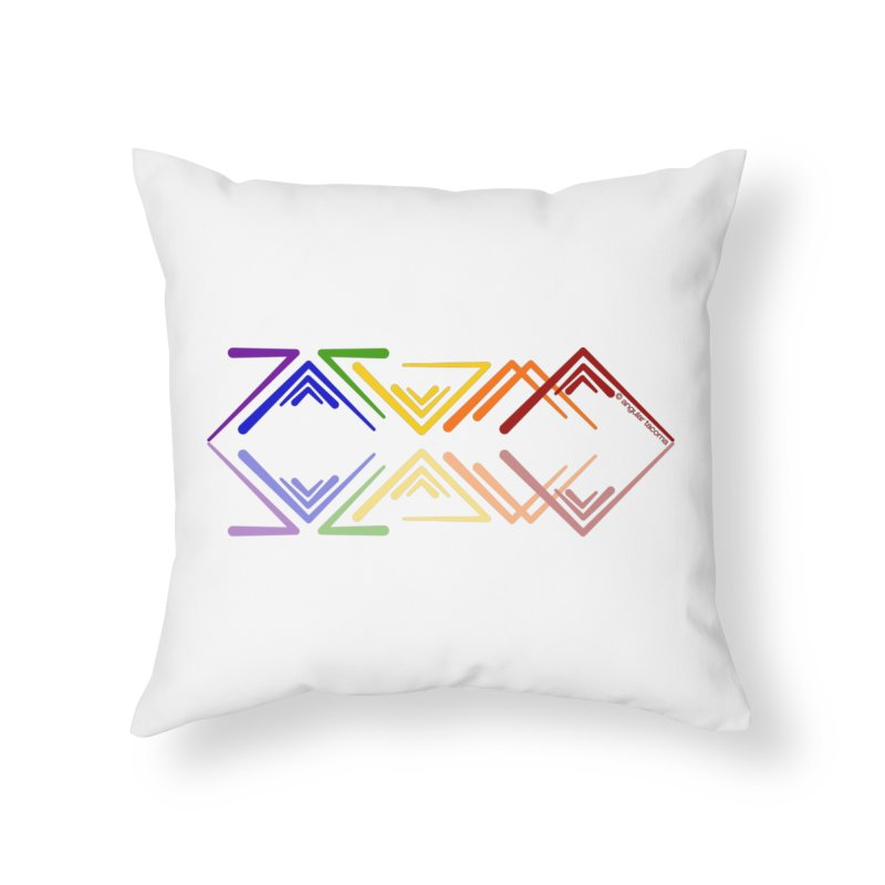 Angular Tacoma - Rainbow Pride Reflection Home Throw Pillow by SymerSpace Art Shop
