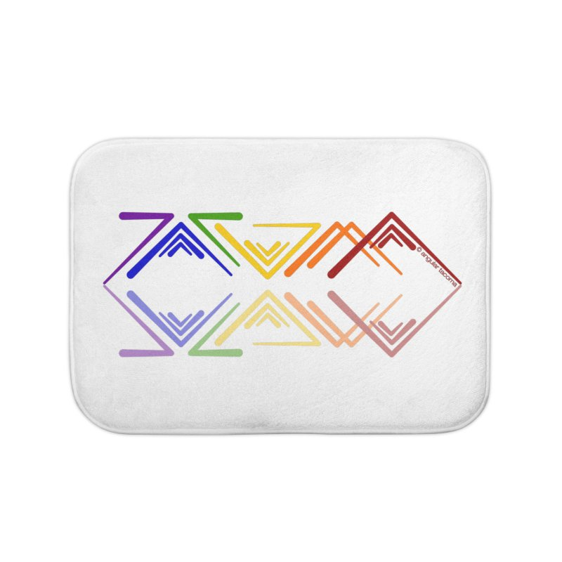 Angular Tacoma - Rainbow Pride Reflection Home Bath Mat by SymerSpace Art Shop