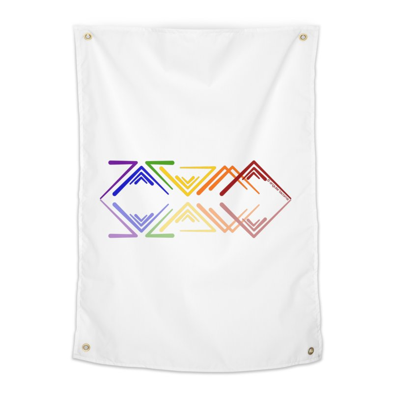 Angular Tacoma - Rainbow Pride Reflection Home Tapestry by SymerSpace Art Shop