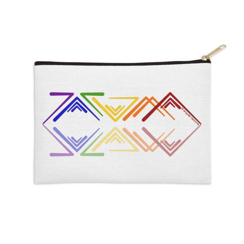 Angular Tacoma - Rainbow Pride Reflection Accessories Zip Pouch by SymerSpace Art Shop