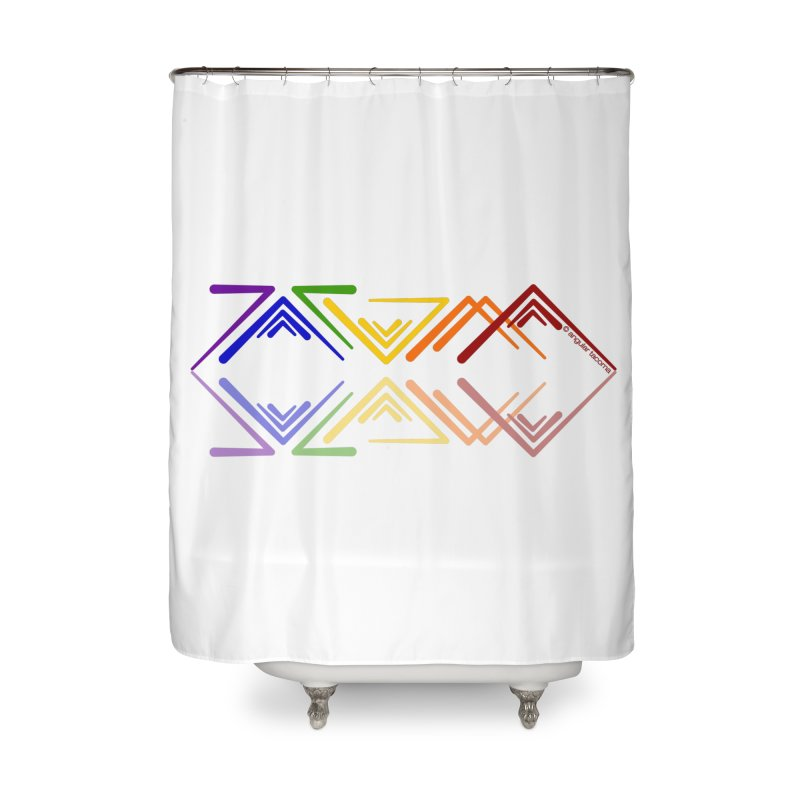 Angular Tacoma - Rainbow Pride Reflection Home Shower Curtain by SymerSpace Art Shop