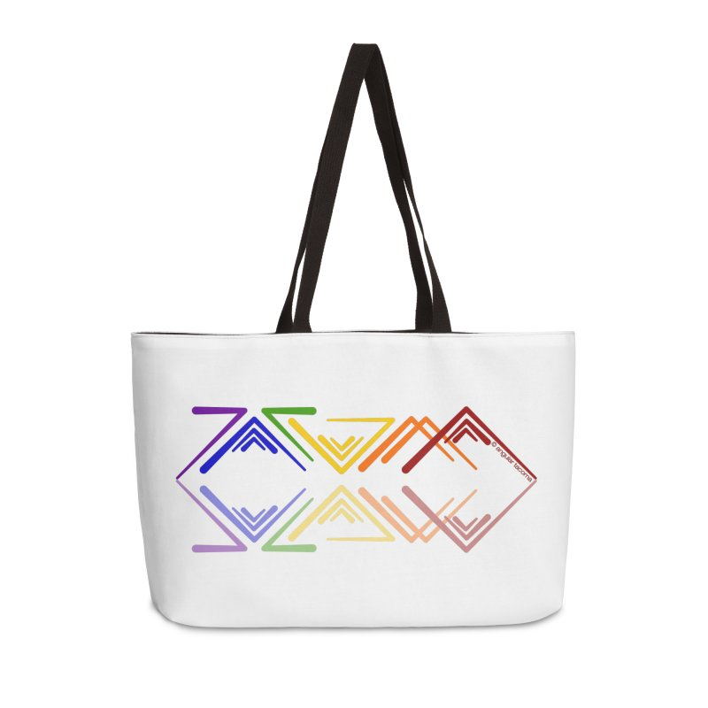 Angular Tacoma - Rainbow Pride Reflection Accessories Bag by SymerSpace Art Shop