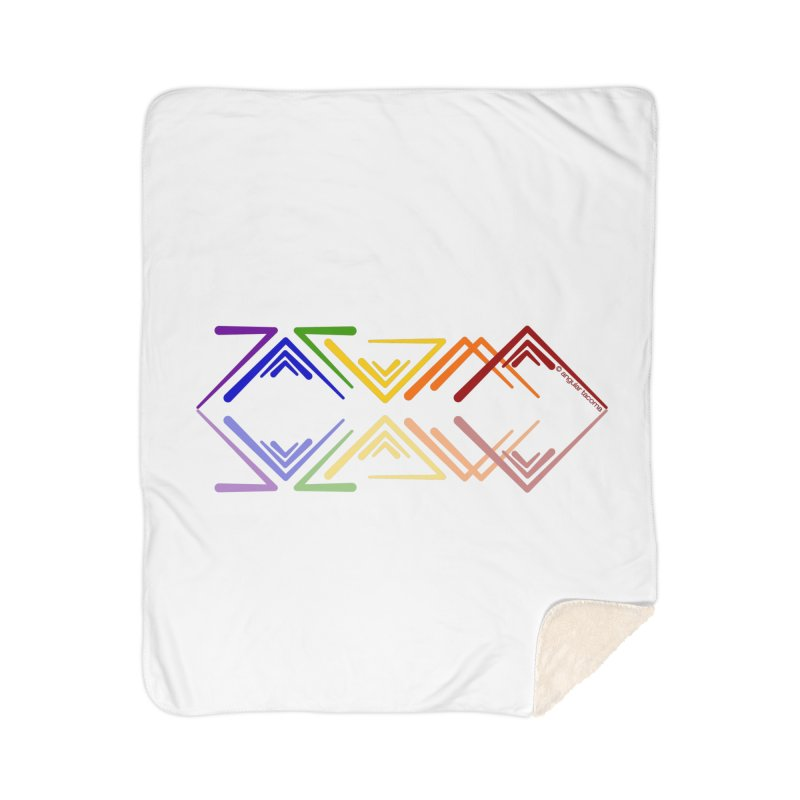 Angular Tacoma - Rainbow Pride Reflection Home Blanket by SymerSpace Art Shop