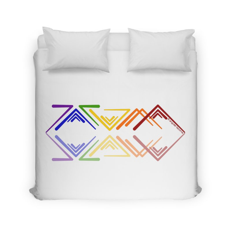 Angular Tacoma - Rainbow Pride Reflection Home Duvet by SymerSpace Art Shop