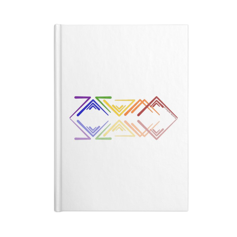 Angular Tacoma - Rainbow Pride Reflection Accessories Notebook by SymerSpace Art Shop
