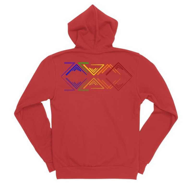 Angular Tacoma - Rainbow Pride Reflection Women's Zip-Up Hoody by SymerSpace Art Shop