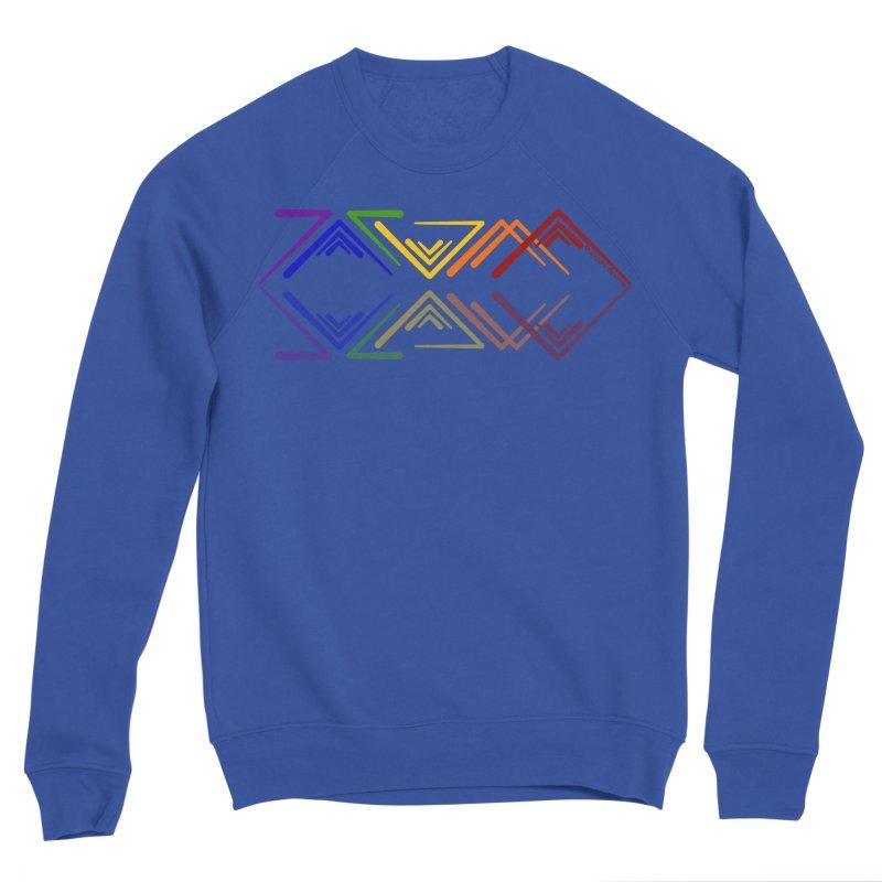 Angular Tacoma - Rainbow Pride Reflection Men's Sweatshirt by SymerSpace Art Shop