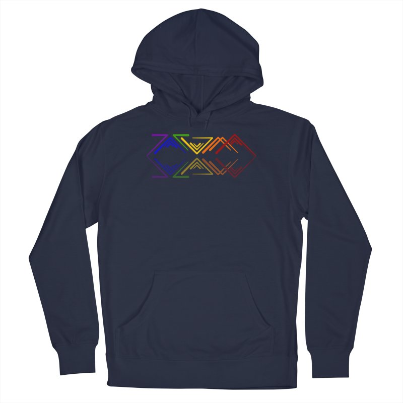 Angular Tacoma - Rainbow Pride Reflection Men's Pullover Hoody by SymerSpace Art Shop