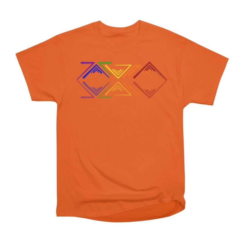 Angular Tacoma - Rainbow Pride Reflection Men's T-Shirt by SymerSpace Art Shop