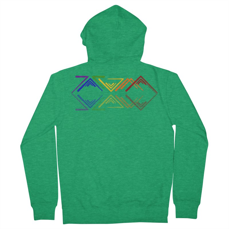 Angular Tacoma - Rainbow Pride Reflection Men's Zip-Up Hoody by SymerSpace Art Shop