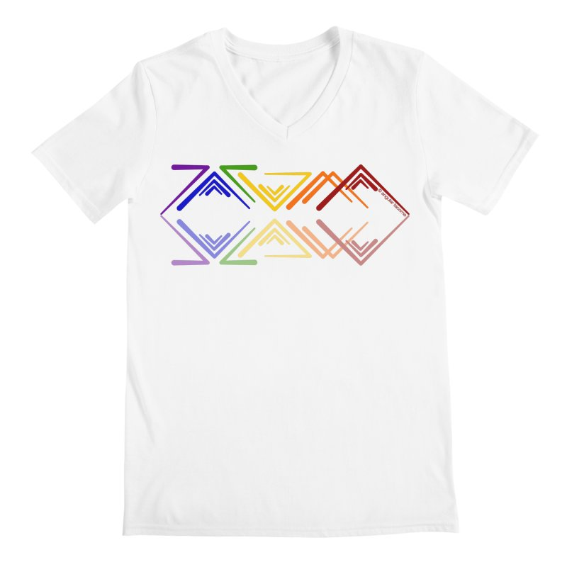 Angular Tacoma - Rainbow Pride Reflection Men's V-Neck by SymerSpace Art Shop