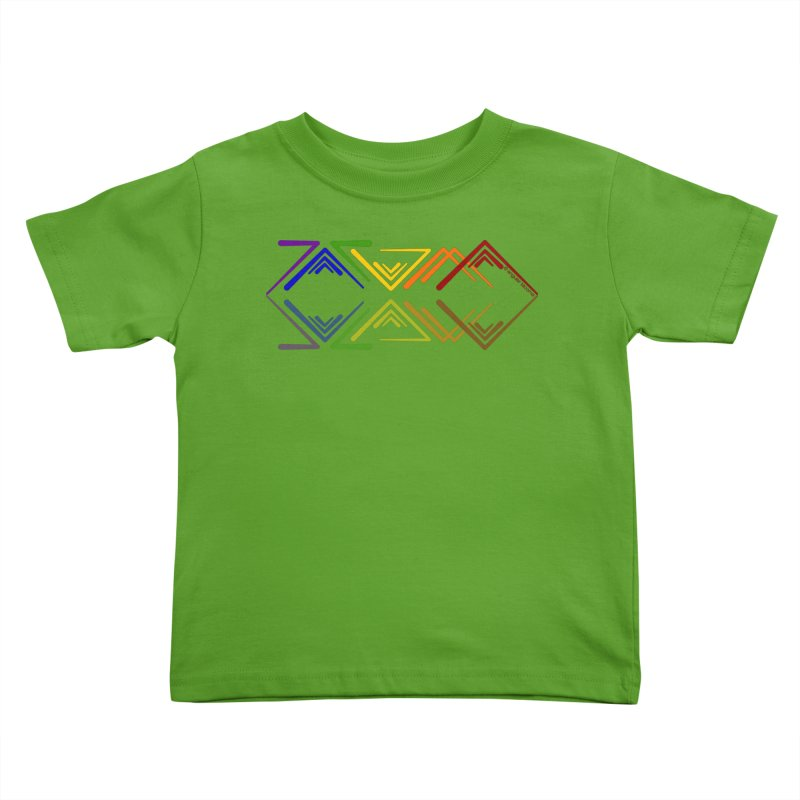 Angular Tacoma - Rainbow Pride Reflection Kids Toddler T-Shirt by SymerSpace Art Shop