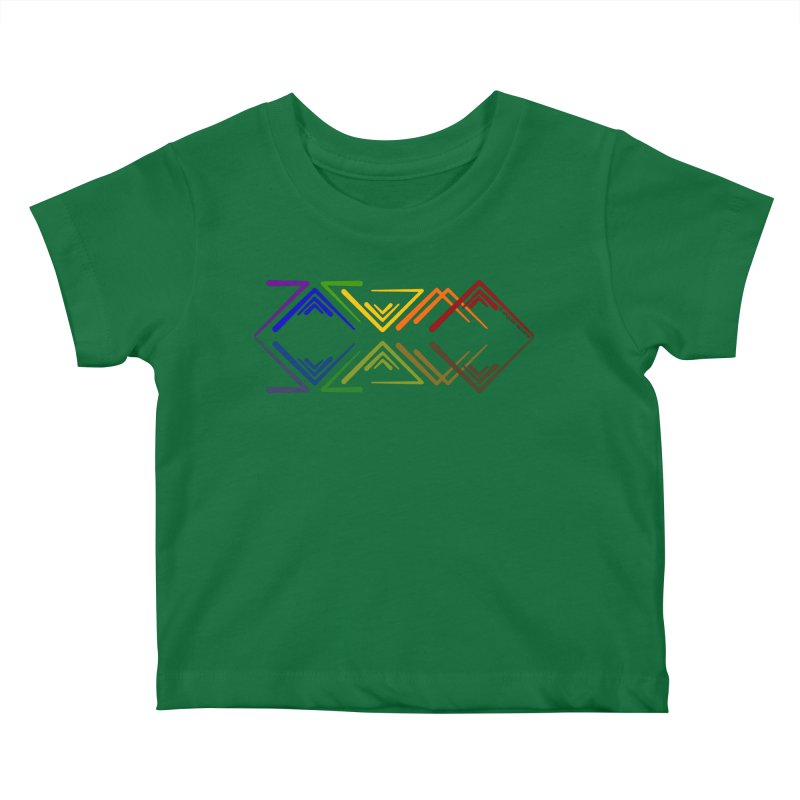 Angular Tacoma - Rainbow Pride Reflection Kids Baby T-Shirt by SymerSpace Art Shop