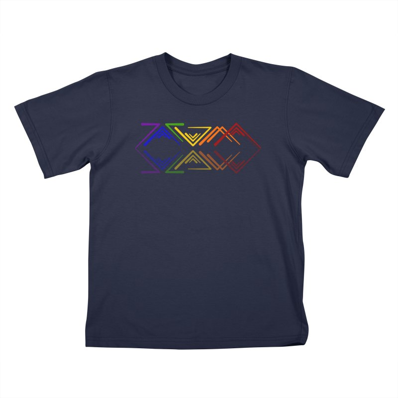 Angular Tacoma - Rainbow Pride Reflection Kids T-Shirt by SymerSpace Art Shop