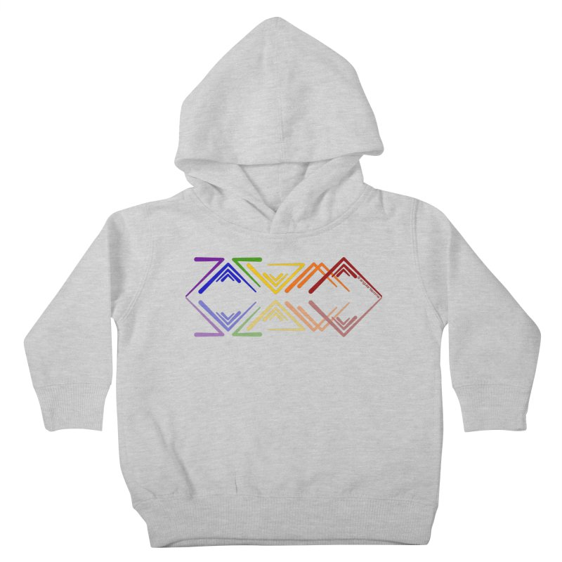 Angular Tacoma - Rainbow Pride Reflection Kids Toddler Pullover Hoody by SymerSpace Art Shop