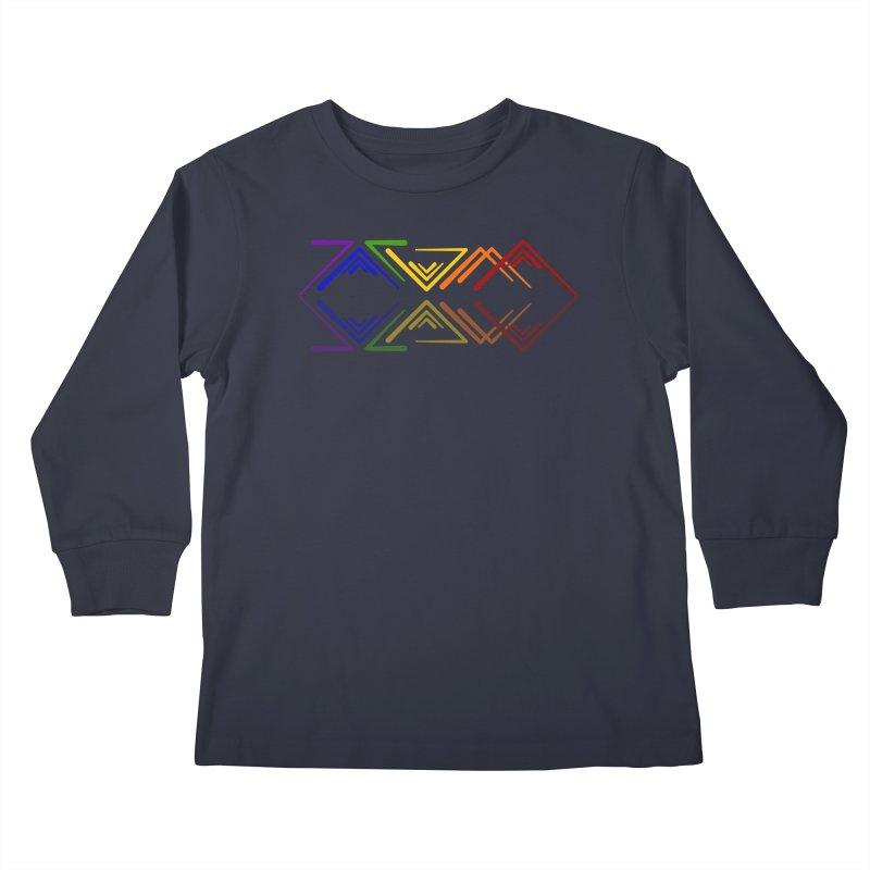 Angular Tacoma - Rainbow Pride Reflection Kids Longsleeve T-Shirt by SymerSpace Art Shop