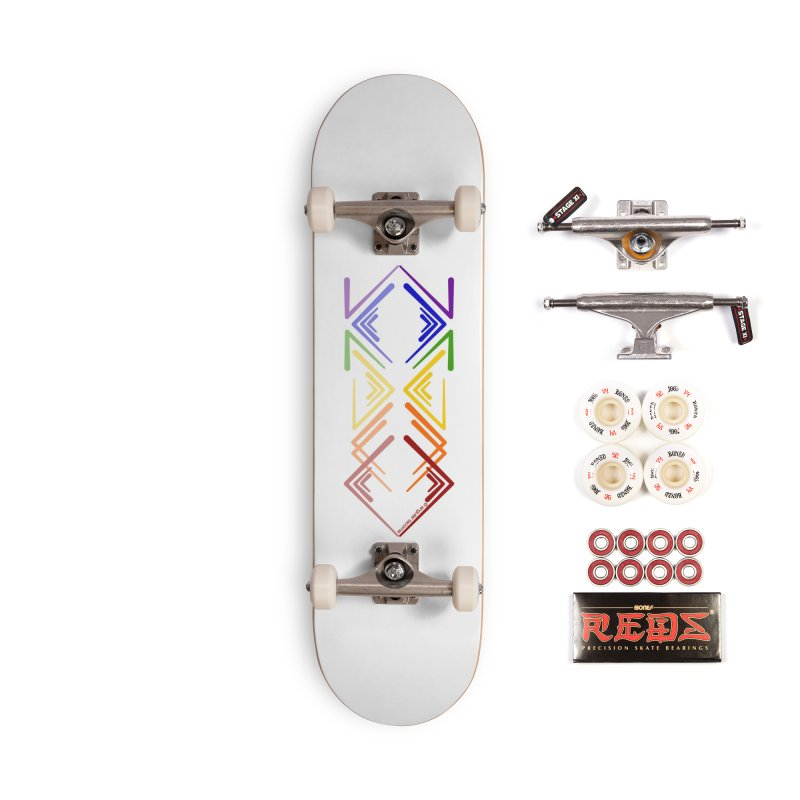 Angular Tacoma - Rainbow Pride Reflection Accessories Skateboard by SymerSpace Art Shop