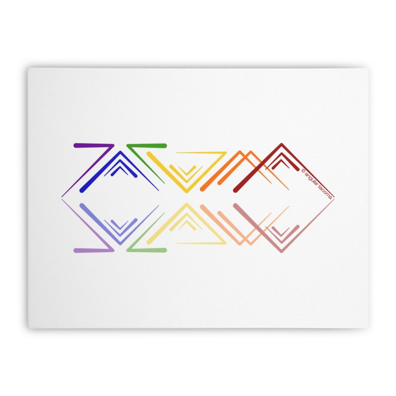 Angular Tacoma - Rainbow Pride Reflection Home Stretched Canvas by SymerSpace Art Shop