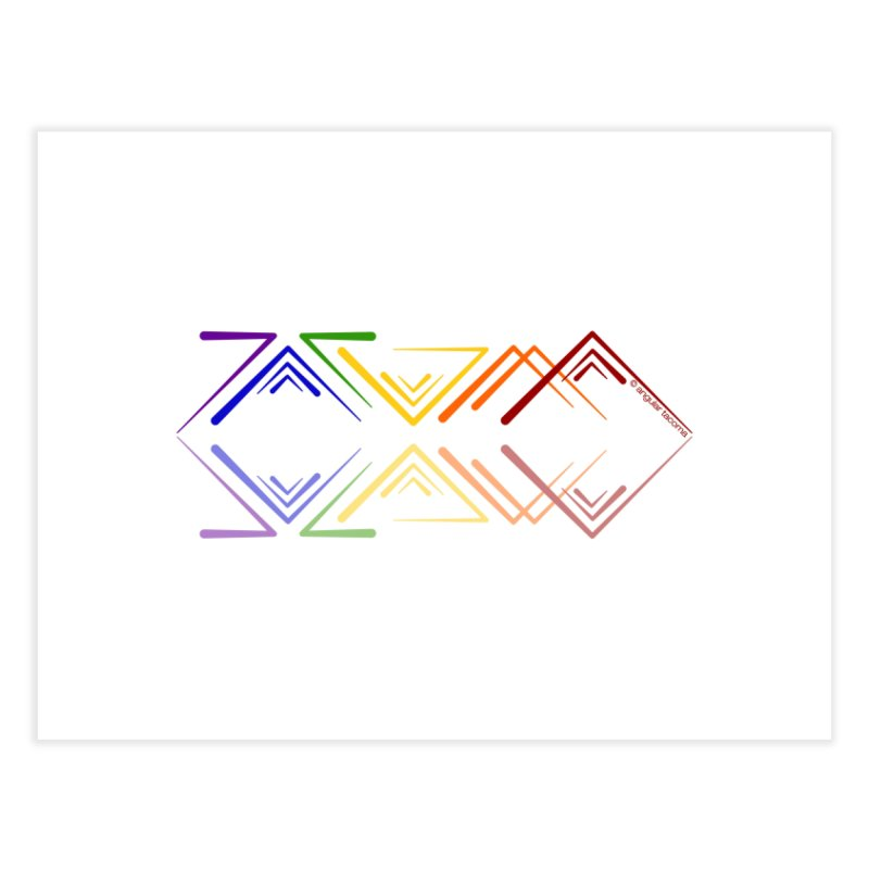 Angular Tacoma - Rainbow Pride Reflection Home Fine Art Print by SymerSpace Art Shop