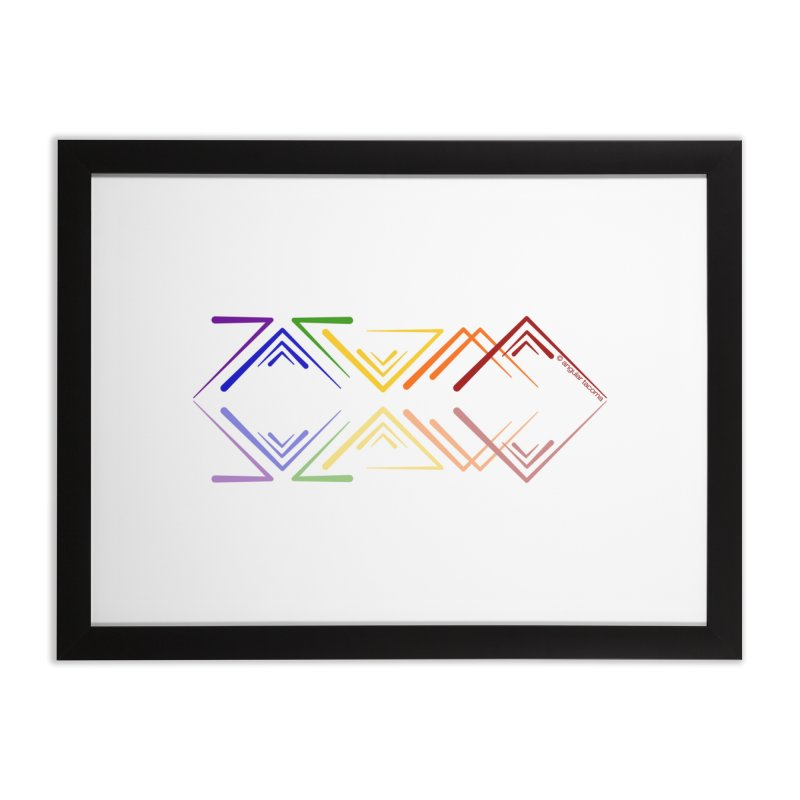 Angular Tacoma - Rainbow Pride Reflection Home Framed Fine Art Print by SymerSpace Art Shop