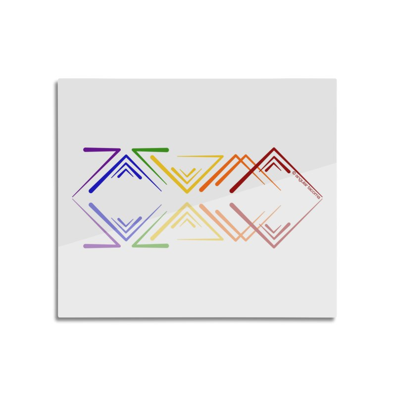 Angular Tacoma - Rainbow Pride Reflection Home Mounted Aluminum Print by SymerSpace Art Shop
