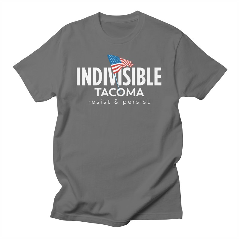 Inidivisible Tacoma flag logo - white Men's T-Shirt by SymerSpace Art Shop