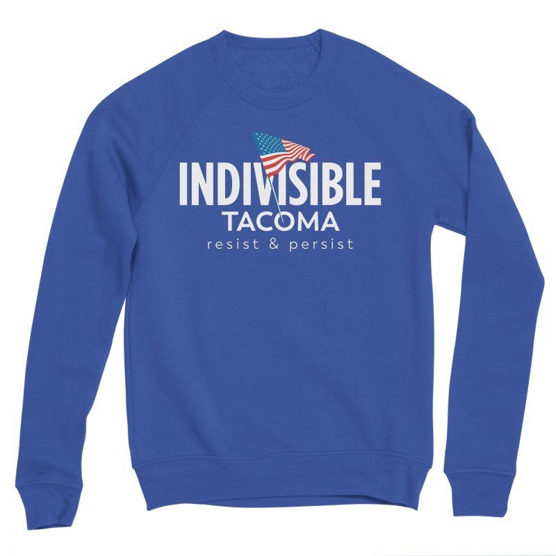 Inidivisible Tacoma flag logo - white Men's Sweatshirt by SymerSpace Art Shop